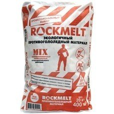 Реагент антигололедный 20 кг, ROCKMELT Mix, до -25С, хлористый натрий + кальций + магний, мешок