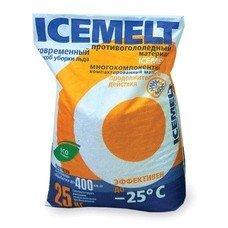 Реагент антигололедный 25 кг, ICEMELT, до -25С, кальций + натрий модифицированный, мешок, 25417