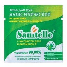 """Гель для рук антисептический, 2 мл, SANITELLE (Санитель) """"Алоэ"""", с витамином Е, индивидуальная упаковка, 0002-ЕА-П"""