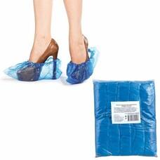 Бахилы, комплект 100 шт. (50 пар), чехлы для обуви, размер 39х15 см, ПВД, 20 мкм, евроупаковка, 6019