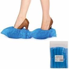 Бахилы ОСОБО ПРОЧНЫЕ, комплект 100 штук (50 пар), чехлы для обуви, размер 39х15 см, ПВД, 35 мкм, евроупаковка, 6053