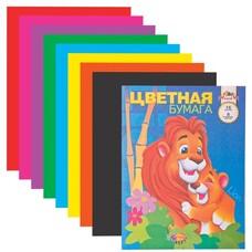 Цветная бумага, А4, 16 листов, 8 цветов, АППЛИКА, 200х290 мм, С0005