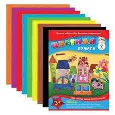 Цветная бумага А4, 14 листов, 8 цветов, АППЛИКА, 205х280 мм, С2763-01