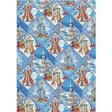 "Бумага упаковочная подарочная ""Зимняя страна"", 100х70 см, в рулонах, мелованная, 80 г/м2, 75179"