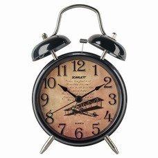Часы-будильник SCARLETT SC-AC1009B, повтор сигнала, механический сигнал, пластик/металл, черные, SC - AC1009B