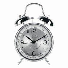 Часы-будильник SCARLETT SC-AC1008M, повтор сигнала, механический сигнал, пластик/металл, серебристые, SC - AC1008M