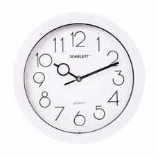 Часы настенные SCARLETT SC-09D, круг, белые, белая рамка, 25,5x25,5x4,6 см, SC - 09D