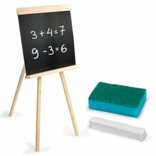 Доска для мела ПИФАГОР на треноге, 42х45 см, с мелком и губкой, черная, 235499