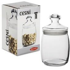 """Банка с крышкой """"Cesni"""" для сыпучих продуктов, 1 шт., 940 мл, стекло, PASABAHCE, 97560"""