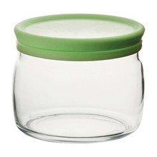 Банка с крышкой для сыпучих продуктов, объем 420мл, зеленая крышка, стекло, Cesni, PASABAHCE, 43002