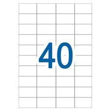 Этикетка самоклеящаяся А4, 40 этикеток 52,5х29,7 мм, белые, 65 г/м2, 50 л., STAFF, 128836