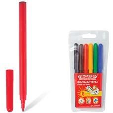 Фломастеры ПИФАГОР, 6 цветов, вентилируемый колпачок, пластиковая упаковка, европодвес, 150383