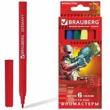 """Фломастеры BRAUBERG """"Star Patrol"""", 6 цв., вентилируемый колп., карт. упаковка, увелич. срок службы, 150543"""