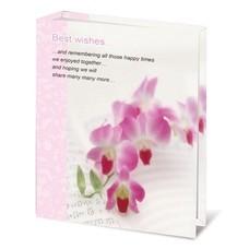"""Фотоальбом BRAUBERG на 100 фотографий 10х15 см, твердая обложка, """"Орхидеи"""", 390663"""