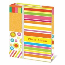 """Фотоальбом BRAUBERG на 100 фотографий 10х15 см, твердая обложка, """"Абстракция"""", 390661"""