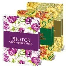 """Фотоальбом BRAUBERG на 36 фотографий 10х15 см, твердая обложка, """"Яркие узоры"""", ассорти, 390655"""