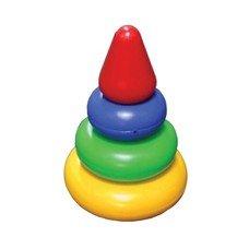 """Пирамидка пластиковая """"Малышок"""", 4 элемента (3 кольца, конус), цветная, """"Десятое королевство"""", 00917"""