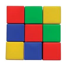 """Кубики пластиковые, 9 шт., 8х8х8 см, цветные, """"Десятое королевство"""", 00900"""