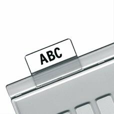 Картотечные индексные окна HAN, комплект 10 шт., для разделителей А4, А5, А6, прозрачные, НА9001
