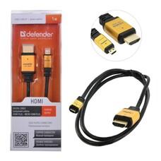 Кабель HDMI-mini HDMI, 1м, DEFENDER, M-M, для передачи цифрового аудио-видео, 87462