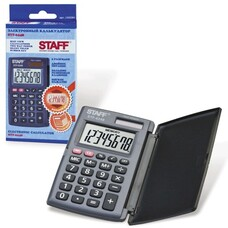 Калькулятор STAFF карманный STF-6248, 8 разрядов, двойное питание, 104х63 мм