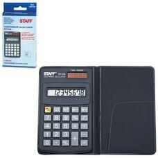 Калькулятор STAFF карманный STF-818, 8 разрядов, двойное питание, 102х62 мм