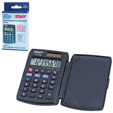 Калькулятор STAFF карманный STF-883, 8 разрядов, двойное питание, 95х62 мм