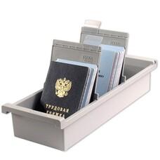 Картотека пластиковая HAN, А6, открытая, вертикальная, на 1300 карточек, 105х148 мм, серая, НА956/0/1/11