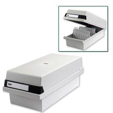 Картотека пластиковая HAN, А5, с крышкой, горизонтальная, на 1300 карточек, 210х148 мм, серая, HA955/11