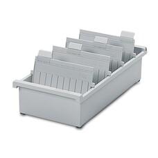 Картотека пластиковая HAN, А5, открытая, горизонтальная, на 1300 карточек, 210х148 мм, серая, НА955/0/11