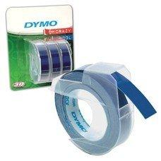 Картридж для принтеров этикеток DYMO Omega, 9 мм х 3 м, белый шрифт, синий фон, комплект 3 шт., S0847740