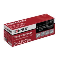 Картридж лазерный HP (CE278A) LaserJet P1566/P1606DN, ресурс 2100 стр., SONNEN совместимый, 362427