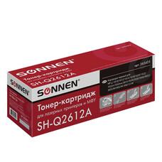 Картридж лазерный HP (Q2612A) LaserJet 1018/3052/М1005, ресурс 2000 стр., SONNEN совместимый, 362425