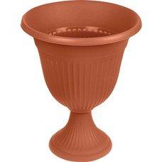 """Кашпо-вазон для цветов 10 л, с подставкой-ножкой, """"Ливия"""", высота 44 см, диаметр 35 см, коричневое, IDEA, М 3203"""