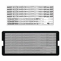 Кассы символов для наборных печатей и штампов