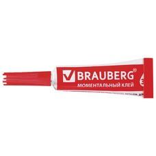 Клей моментальный (суперклей) BRAUBERG, прочный, 3 г, на ленте, 604225