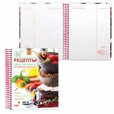 """Книга для кулинарных рецептов, А5, 80 л., HATBER, 7БЦ, спираль, 5 разделителей, """"Семейные рецепты"""", 80ККт5Aпс 12829, 80ККт5Aпс_12829"""