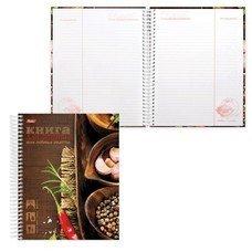"""Книга для кулинарных рецептов, А5, 80 л., HATBER, 7БЦ, спираль, 5 разделителей, """"Любимые рецепты"""", 80ККт5Aпс 12828, 80ККт5Aпс_12828"""