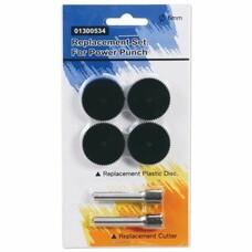 Сменные запасные части для дырокола KW-trio 9550, комплект 2 ножа и 4 пластиковых диска, блистер, -1300534