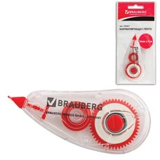 "Корректирующая лента BRAUBERG ""Red Power"", 5 мм х 6 м, в упаковке с европодвесом, SF5607"