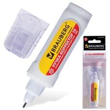 Ручка-корректор BRAUBERG, 10 мл, металлический наконечник, в упаковке с подвесом, 222059