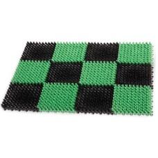 """Коврик входной пластиковый грязезащитный """"Травка"""", 55х41х1,8 см, зеленый-черный, IDEA, М 2280"""