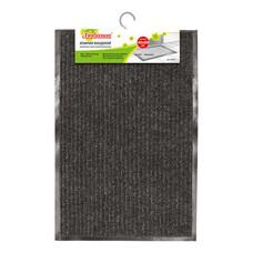 Коврик входной ворсовый влаго-грязезащитный ЛАЙМА/ЛЮБАША, 40х60 см, ребристый, толщина 7 мм, черный, 602863