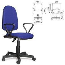 """Кресло оператора """"Престиж"""", регулируемая спинка, с подлокотниками, синее"""