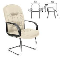 """Кресло для приемных и переговорных """"Лидер"""", CH-416, кожзаменитель, бежевое"""