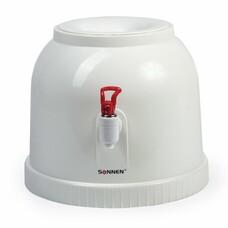 Кулер для воды SONNEN TS-01, настольный, без нагрева и охлаждения, водораздатчик,1 кран, белый, 452417