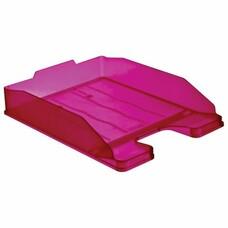 """Лоток горизонтальный для бумаг СТАММ """"Эксперт"""", тонированный фиолетовый (слива), ЛТ208"""