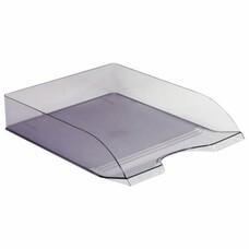 """Лоток горизонтальный для бумаг СТАММ """"Дельта"""", тонированный серый, ЛТ653"""