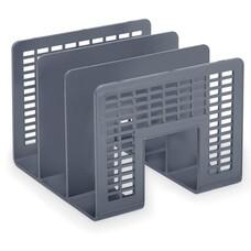 "Лоток-сортер для бумаг BRAUBERG ""Radikal"", 3 отделения, 207х212х165 мм, сетчатый, серый, 235365"