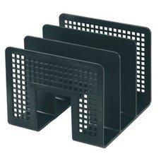 Лоток-сортер для бумаг ERICH KRAUSE, 3-х секционный, черный, 8070